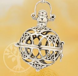 Harmony Ball Celtic Design Pendant Sterling Silver 925 20mm