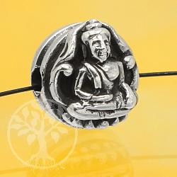 Silberperle Buddha Sterling Silber 925 10mm