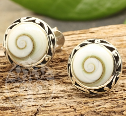 Shiva Shell Ear Stud Ornami Sterlingsilver 925 16mm