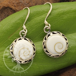 Shiva Shell Earring Ornami Sterlingsilver 925 12mm