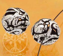 Silber Perle 925er Tierkreiszeichen Hase 10mm