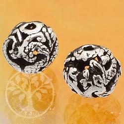 Silber Perle 925er Tierkreiszeichen Drache 10mm