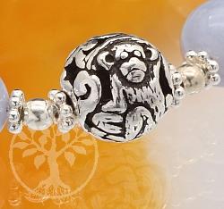 Silber Perle 925er Tierkreiszeichen Affe 10mm