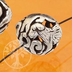 Silber Perle 925er Tierkreiszeichen Hund 10mm