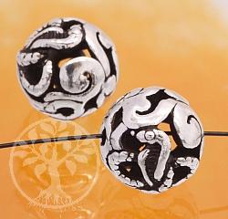 Silber Perle 925er Tierkreiszeichen Schlange 10mm