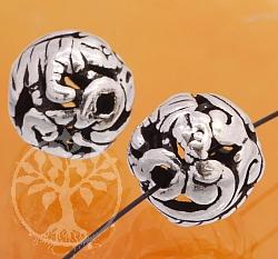 Silber Perle 925er Tierkreiszeichen Tiger 10mm
