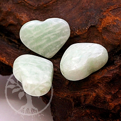 Amazonite Green Heart Pendant 25x18mm