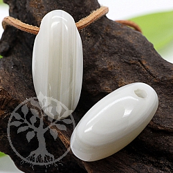 Agate white Shiva Lingam 32X16mm gloss
