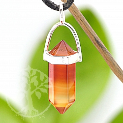Carneol Ender Pendant with Sterling Silver 925