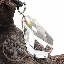Kristall Stein Flat Drop Anhänger