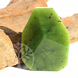 Jade stone flat genuine jade nephrite with facet cut 40x30x8mm AA