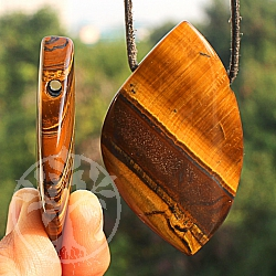 Tiger Eye Freeform Pendant Gemstone 8/10 x 40 / 60mm
