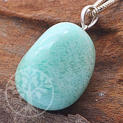 Amazonite Stone Pendulum with sterlingsilver hook