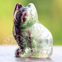 Fluorit Cat 40 mm Carving