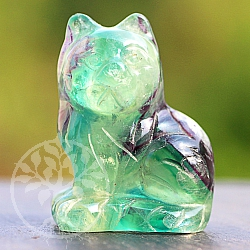 Fluorit Cat Rainbow Miau about 40mm Natural Gemstone