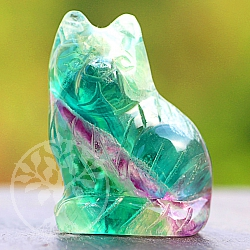 Fluorit Cat Rainbow is about 40 mm tall