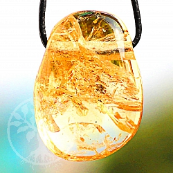Citrine Tumble Stone Pendant 30/21mm
