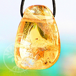 Citrine Tumble Stone Pendant 30/23mm