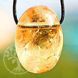 Citrine Tumble Stone Pendant 20/20mm