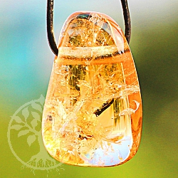 Citrine Tumble Stone Pendant 30/20mm