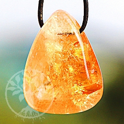 Citrine Tumble Stone Pendant 29/22mm