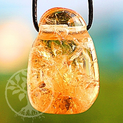 Citrine Tumble Stone Pendant 31/22mm