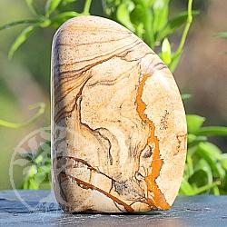Braune Jaspis-Landschaft Edelstein-Skulptur 80*55*28mm
