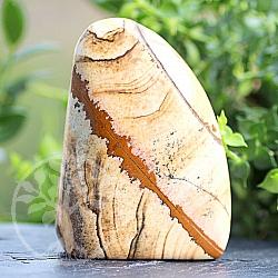 Stein zum Hinstellen Jaspis-Landschaft Edelstein  Unikat 77*57*30mm