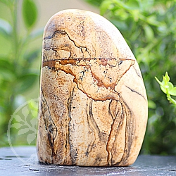 Freeform Jaspis-Landschafts Gemstone Sculpture 76*53*31mm