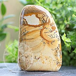Edelstein Freiform Jasper-Landschafts Edelstein Skulptur 81*54*32mm