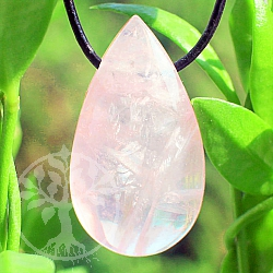 Rose Quartz Stone Pendant 30*17*11mm