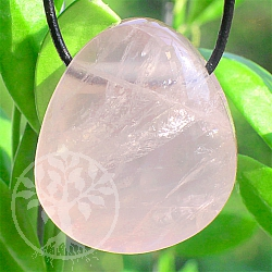 Rose Quartz Stone Pendant 28*24*14mm