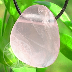 Rose Quartz Stone Pendant 24*20*13mm