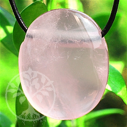 Rose Quartz Stone Pendant 25*21*11mm