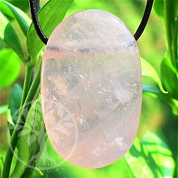 Rose Quartz Stone Pendant 32*21*13mm