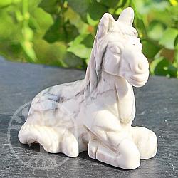 weisses Pferd aus Magnesit Stein 51*30*51mm