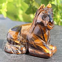 Pony Edelstein Figur  Pferd aus Tigerauge 50*52mm