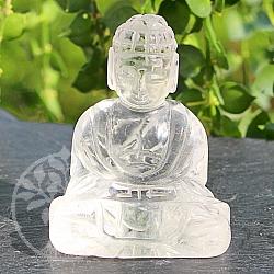 Bergkristall Buddha Gravur 51x41mm aus natürlichem Kristall