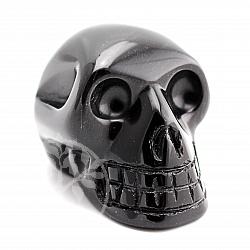 Obsidian / Onyx schwarzer Schädel aus Obsidian Edelstein 55*40mm