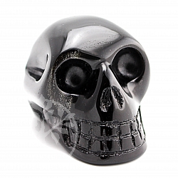 Obsidian schwarzer Kristallschädel Edelstein Schädel 53*38