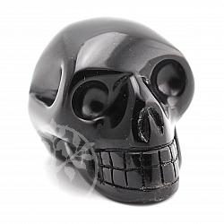 Obsidian Kristallschädel schwarzer Schädel der schwarze Rächer 55*40mm