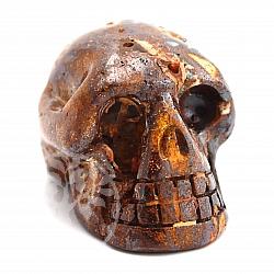 Boulder Opal Gem Skull 21x29x41mm