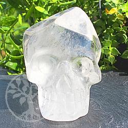 Kristall Schädel aus Natur Bergkristall Edelstein 71*60*80mm