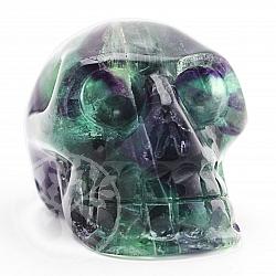 Fluorit Kristallschädel 52*55*76mm