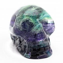 Fluorit Kristallschädel aus Edelstein 47*47*66mm
