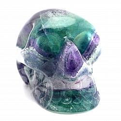 Fluorit Kristallschädel Edelsteinschädel 47*47*67mm
