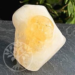 Citrine Kristallschädel Edelstein 38*40*25mm