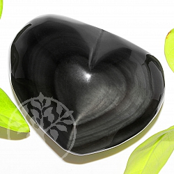 Regenbogen Obsidian Herz A+/AA 53*70*35mm Edelsteine Herzgravur