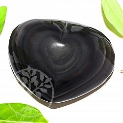 Regenbogenobsidian Herz Stein A+/AA 60*80*35mm schwarzer Naturstein