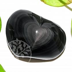 Obsidianherz Regenbogen Edelstein A+/AA 48*63*35mm